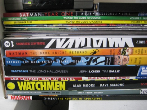 Watchmen and a French Graphic Novel I picked up in Marseille are my favs